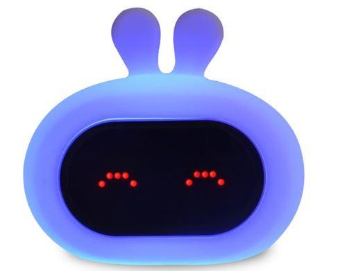 InnoGIO Silikonowa lampka nocna z budzikiem GIOrabbit GIO-135  (4)