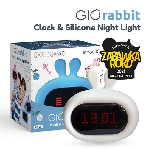 InnoGIO Silikonowa lampka nocna z budzikiem GIOrabbit GIO-135  (1)